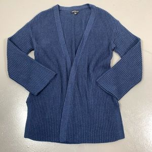 J.Crew Mercantile S blue ribbed knit open cardigan